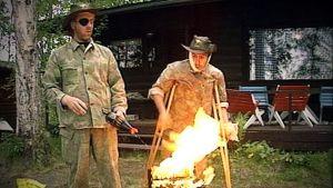 Selviytyjät sytyttävät grilliä, Yle kuvanauha 1991