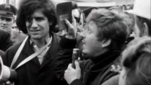 Daniel Cohn-Bendit mielenosoituksessa Saarbrückenissä (1968).