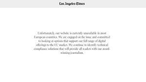 LA Times blockerat under GDPR.