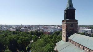 Åbo domkyrka en sommardag.