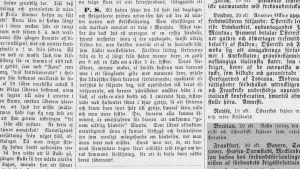 En gammal tidningsartikel från år 1859. Skriven med gammal svenska och gamla bokstäver.