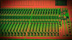studion äänipöytä, käsitelty kuva