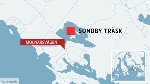 Karta över Sondby träsk