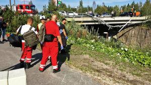 Räddningsmanskap i Kuopio.