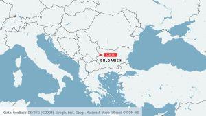 Karta över Bulgarien