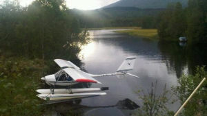 Ett lätt flygplan som störtade i nord-Norge i augusti 2018.