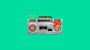 First Taker Kid -artistin sinkun kansi, vihreällä taustalla paintilla tehty radiokuva.