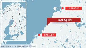 Kalajoki på en karta.