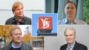 Bildcollage av Staffan Bruun, Jens Berg, Stefan Mutanen och Kaj-Gustaf Berg.