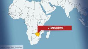 Karta över Afrika med Zimbabwe.