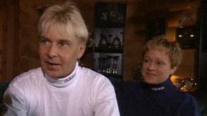 Matti Nykänen ja Sari Paanala vuonna 1997.