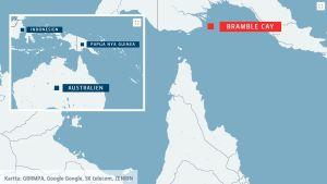 Den utrotade gnagaren levde på ön Bramble Cay.