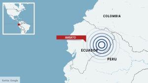 Karta över sydamerika.