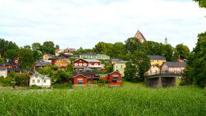 Vy över gamla stan i Borgå.