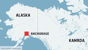 Anchorage på en karta.