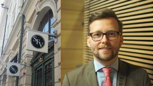 Svenska folkskolans vänners logo och Mats Löfström inklippt.