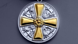 Bild av en medalj.
