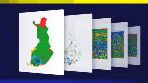Grafik på kartor med valresultatet i Eu-valet 2019