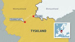 Karta med området Fulda Gap.