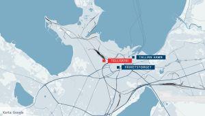 Karta över Tallinn.