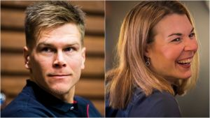 Matias Strandvall och Mona-Liisa Nousiainen.