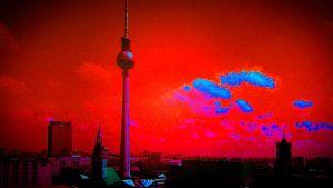 Berliini, käsitelty ilmakuva kaupungista