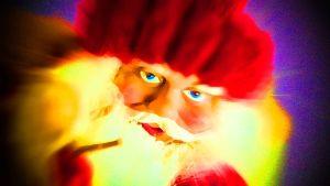 Joulupukki, käsitelty kuva