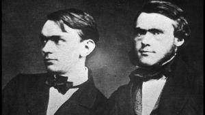 Alfred och Ludvig Nobel som unga. Förmodligen 1850-tal.