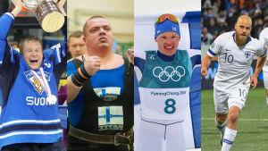 Mikko Koivu, Fredrik Smulter, Iivo Niskanen och Teemu Pukki.