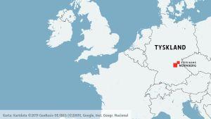Karta över Tyskland