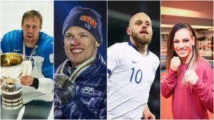 Marko Anttila, Iivo Niskanen, Teemu Pukki och Eva Wahlström finns med bland de nominerade.