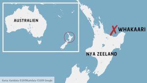 Whakaari på en karta.