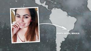 Rikosdraama Sorjosen kansainväliset fanit: brasilialainen Karla Carvalho.