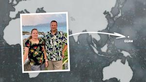 Rikosdraama Sorjosen kansainväliset fanit: suomalais-yhdysvaltalainen pariskunta Niina ja Ken Gould.