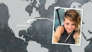 Rikosdraama Sorjosen kansainväliset fanit: yhdysvaltalainen Jessica Blaine Haydel.