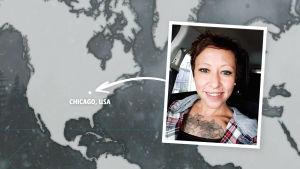 Rikosdraama Sorjosen kansainväliset fanit: yhdysvaltalainen Amy Valadez.