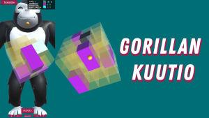 Gorillan kuutio -peli Galaxin sovelluksessa.