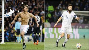 Cristiano Ronaldo till vänster och Tim Sparv till höger.