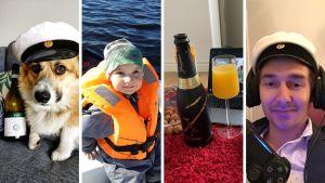 Ett collage på läsarnas bilder om valborgsfirandet.