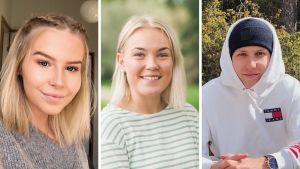 Collage på nyblivna studenter våren 2020.