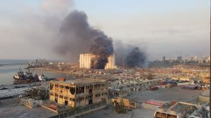 Explosion i Beirut.
