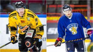 Janne Keränen till vänster och Julius Honka till höger.