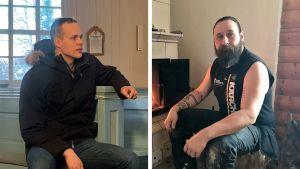Sebastian Widjeskog (till vänster) och Mikael Rosenström har båda sadlat om i arbetslivet. Bildmontage.