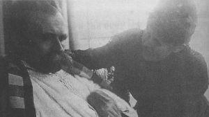 Filosofen Friedrich Nietzsche, sjuk i syfilis. 1899.