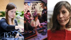 Kuvassa muusikot Lau Nau, Avarus ja Marja Ahti.