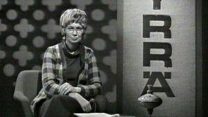 Hyrrä-ohjelman juontaja, psykologi Kirsti Kivinen (1973).