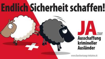 Schweiz rostar om utlanningar