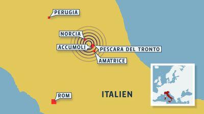 Tva doda efter skalv pa italienska turiston