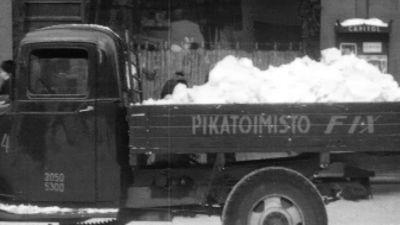 Snö på lastbil, 1946 (?)