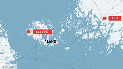 Karta som visar Eckerö på Åland